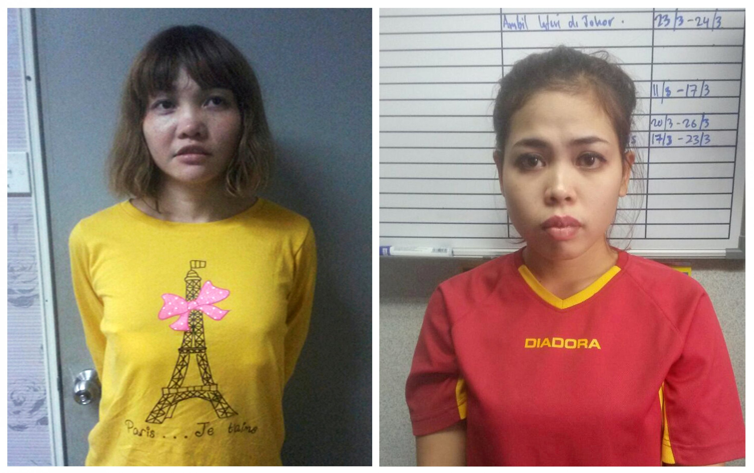 Vietnamese Doan Thi Huong (L) and Indonesian Siti Aishah