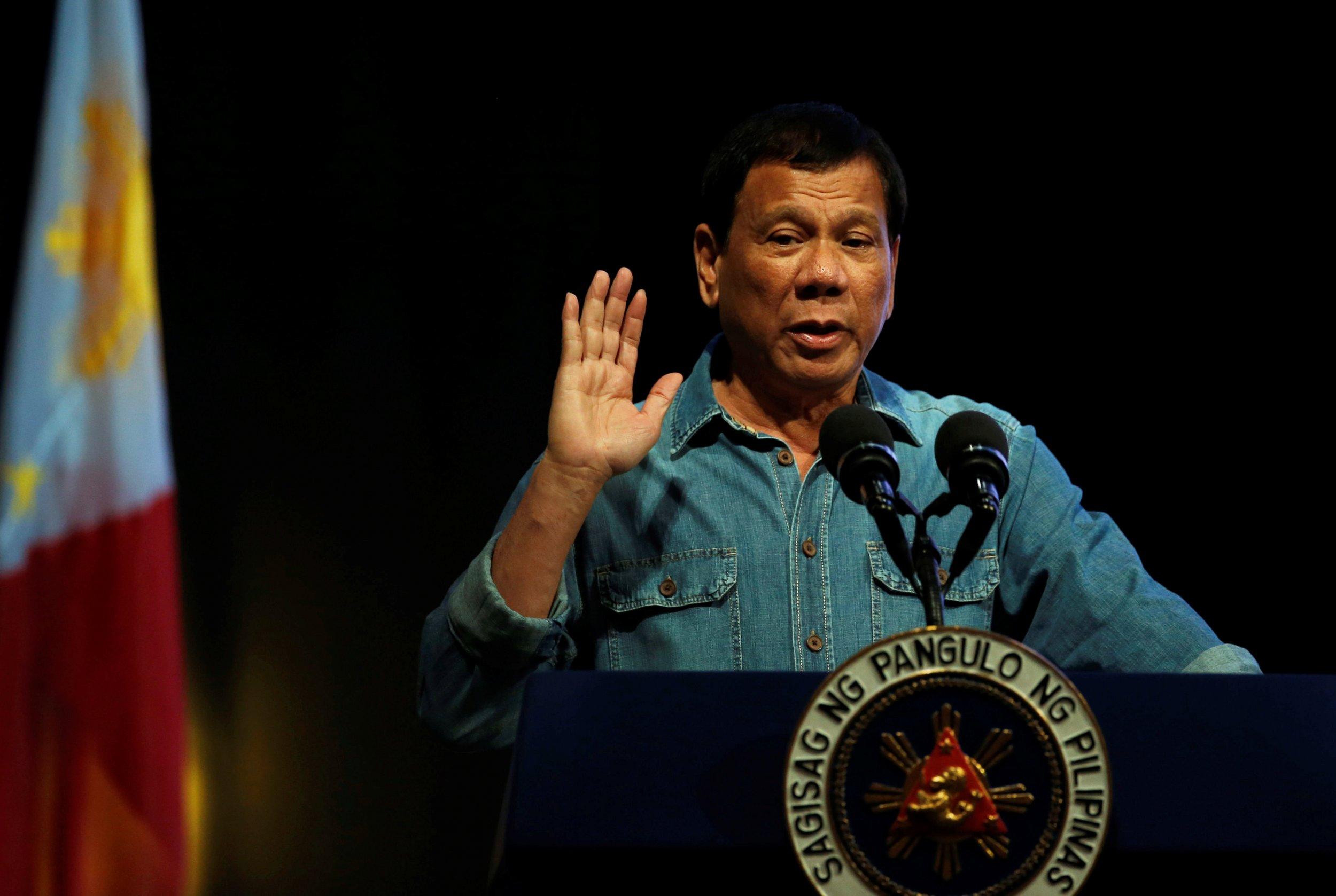 Duterte speaks