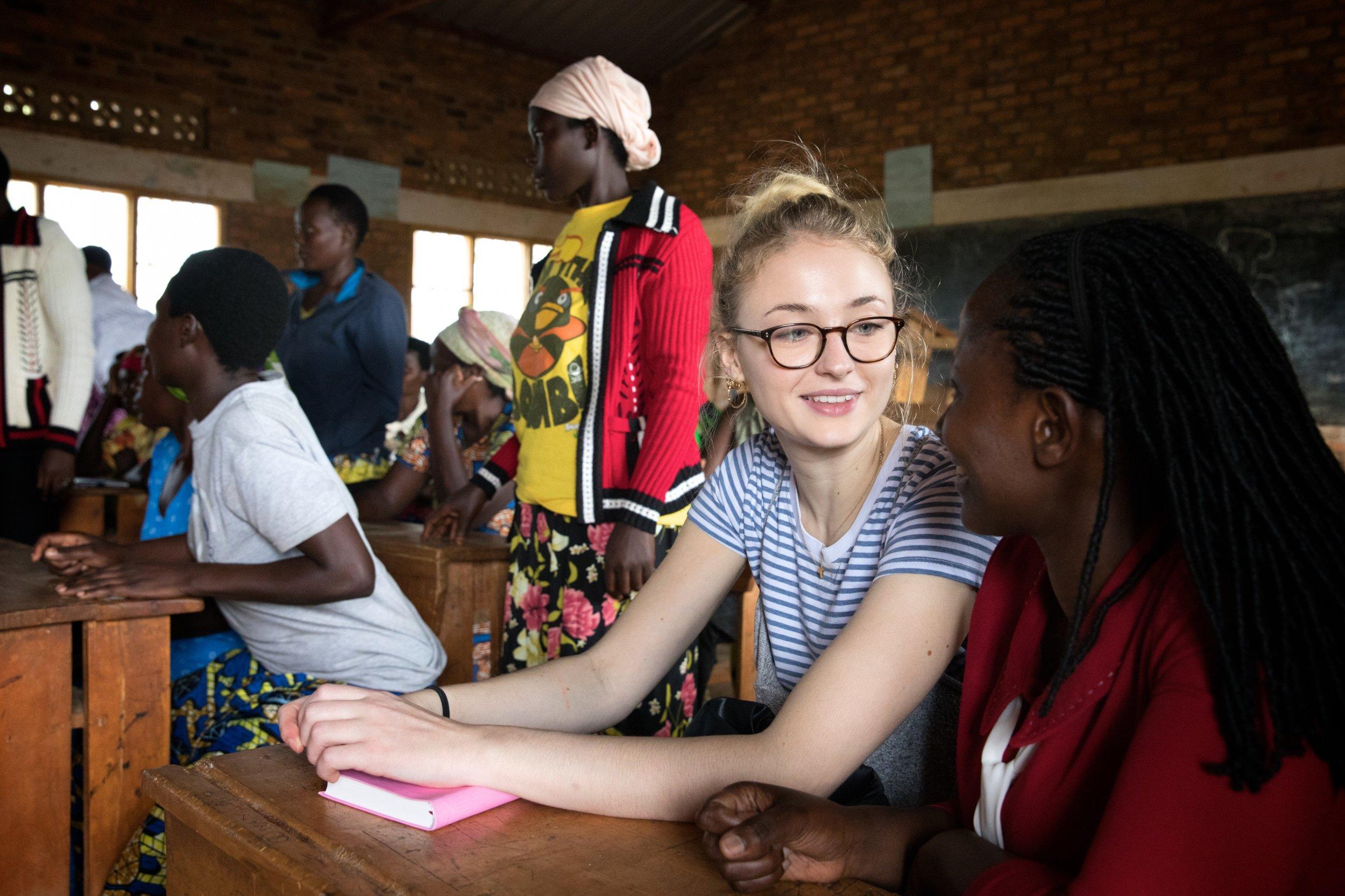 Sophie Turner in Rwanda
