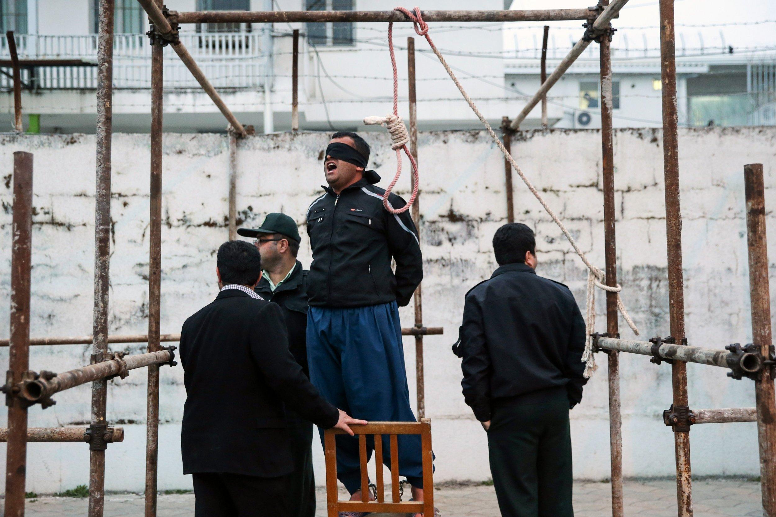 A man awaits execution
