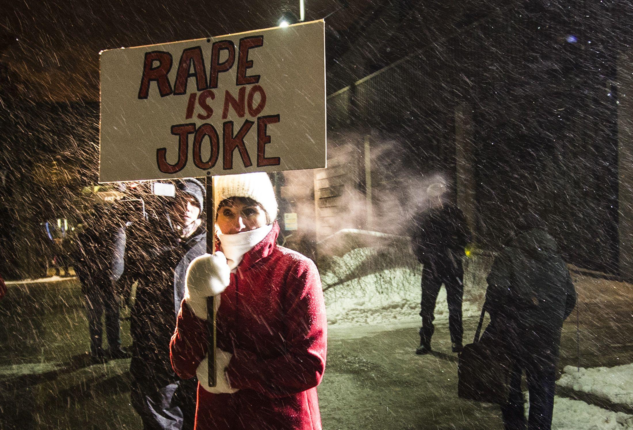 Rape protester