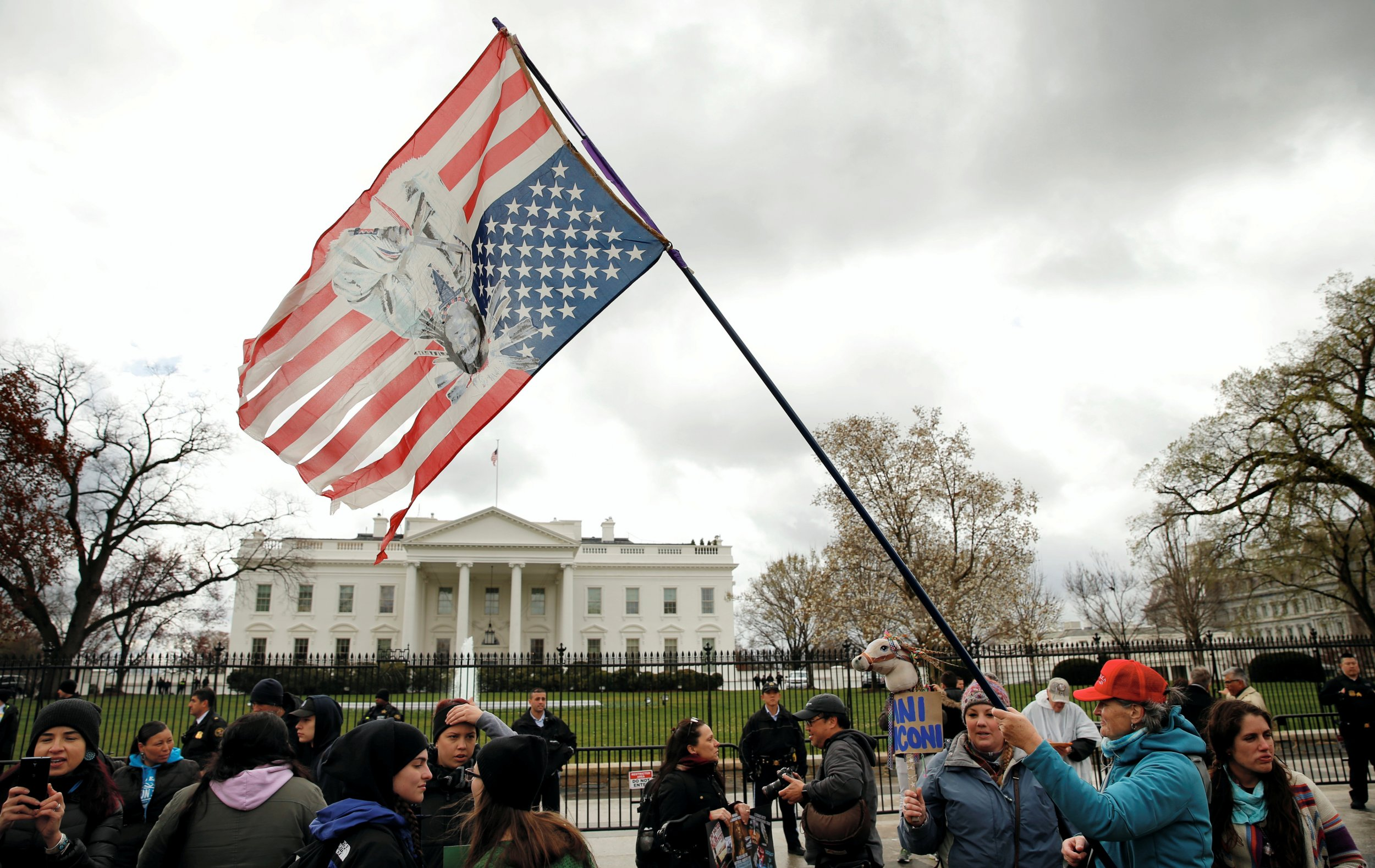 Native American White House Protest