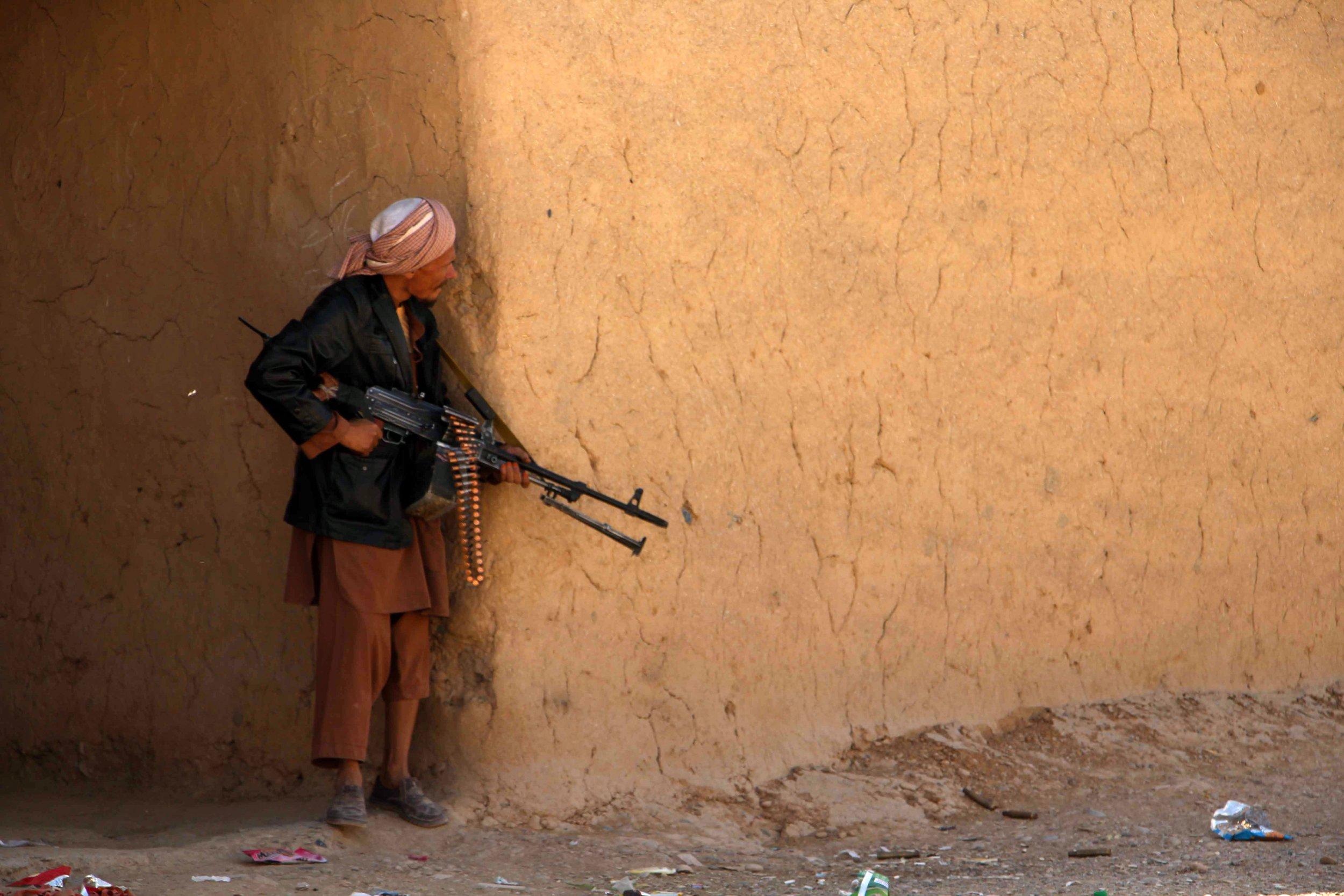 Afghan policeman in Helmand