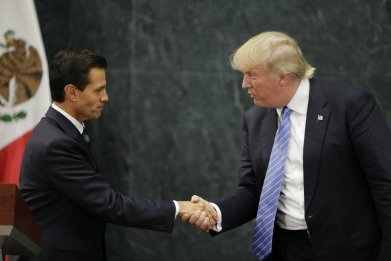 Donald Trump and Enrique Peña Nieto