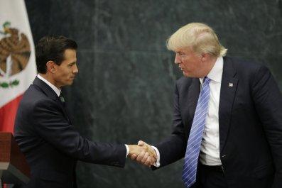 Donald Trump and Enrique Peña Nieto