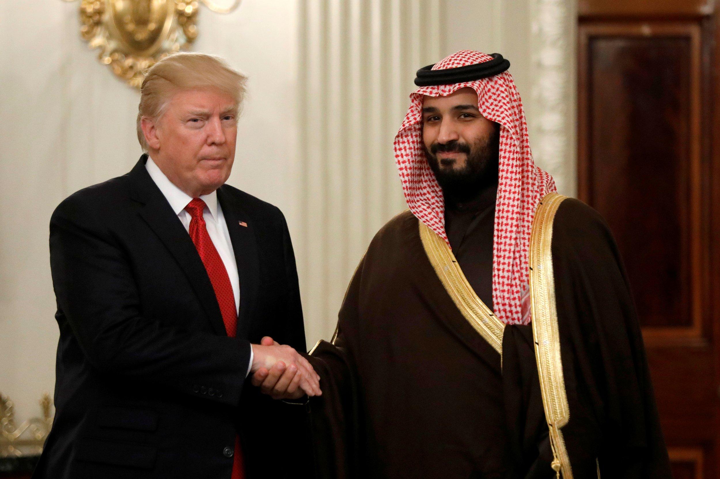 Donald Trump Mohammed bin Salman