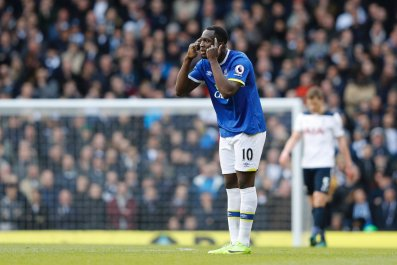 Everton striker Romelu Lukaku.