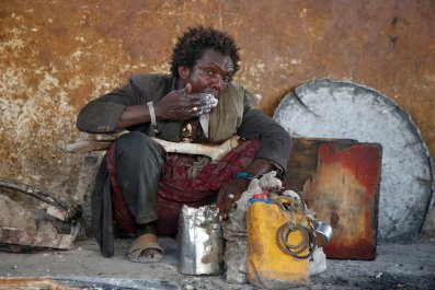 Somali displaced man