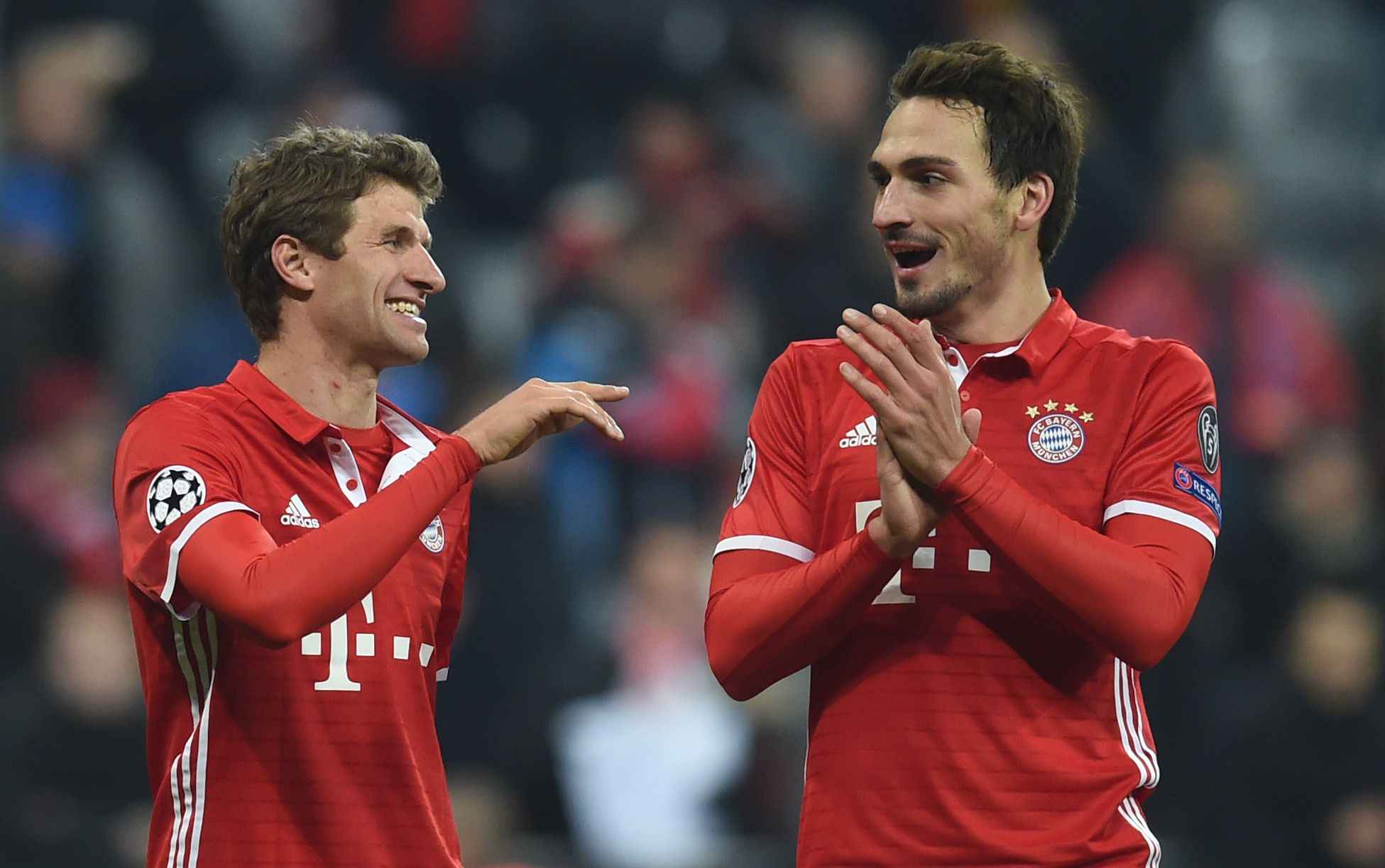 Bayern Munich star Thomas Muller, left.