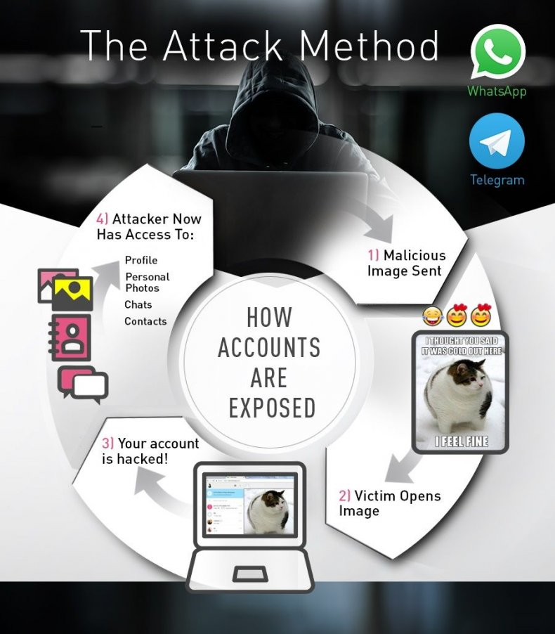 whatsapp hack check point telegram