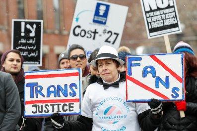 transgender rights protest