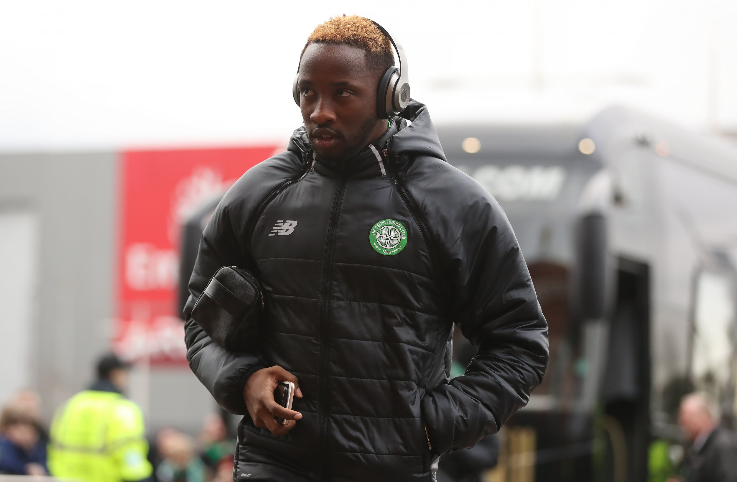 Moussa Dembele of Celtic at Celtic Park, Glasgow, Scotland, February 18.