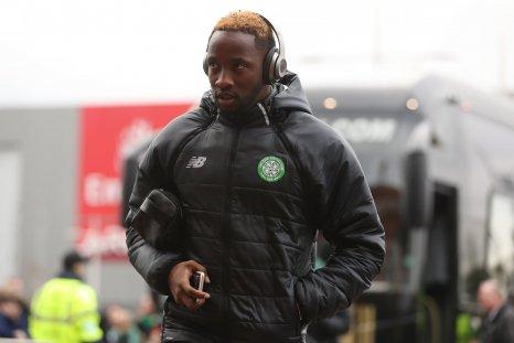 Moussa Dembele of Celtic at Celtic Park, Glasgow, Scotland, February 18.