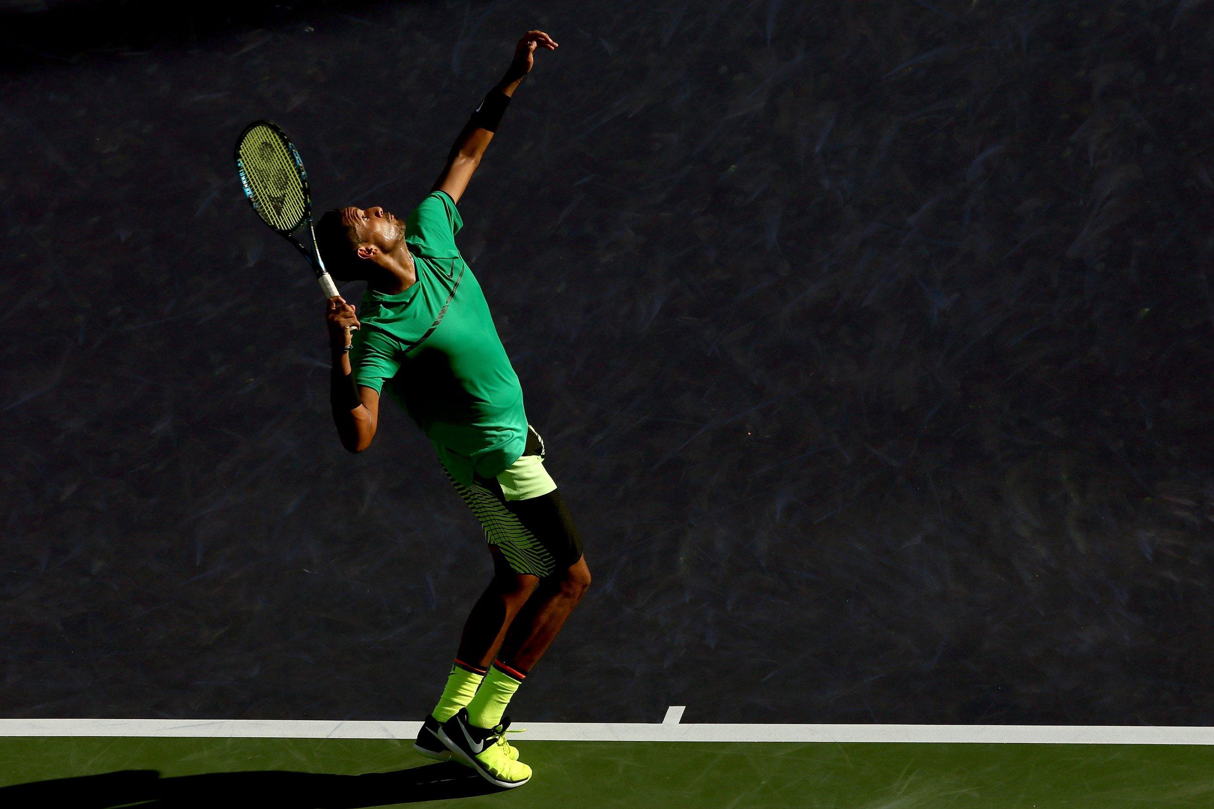 World number 16 tennis player Nick Kyrgios.