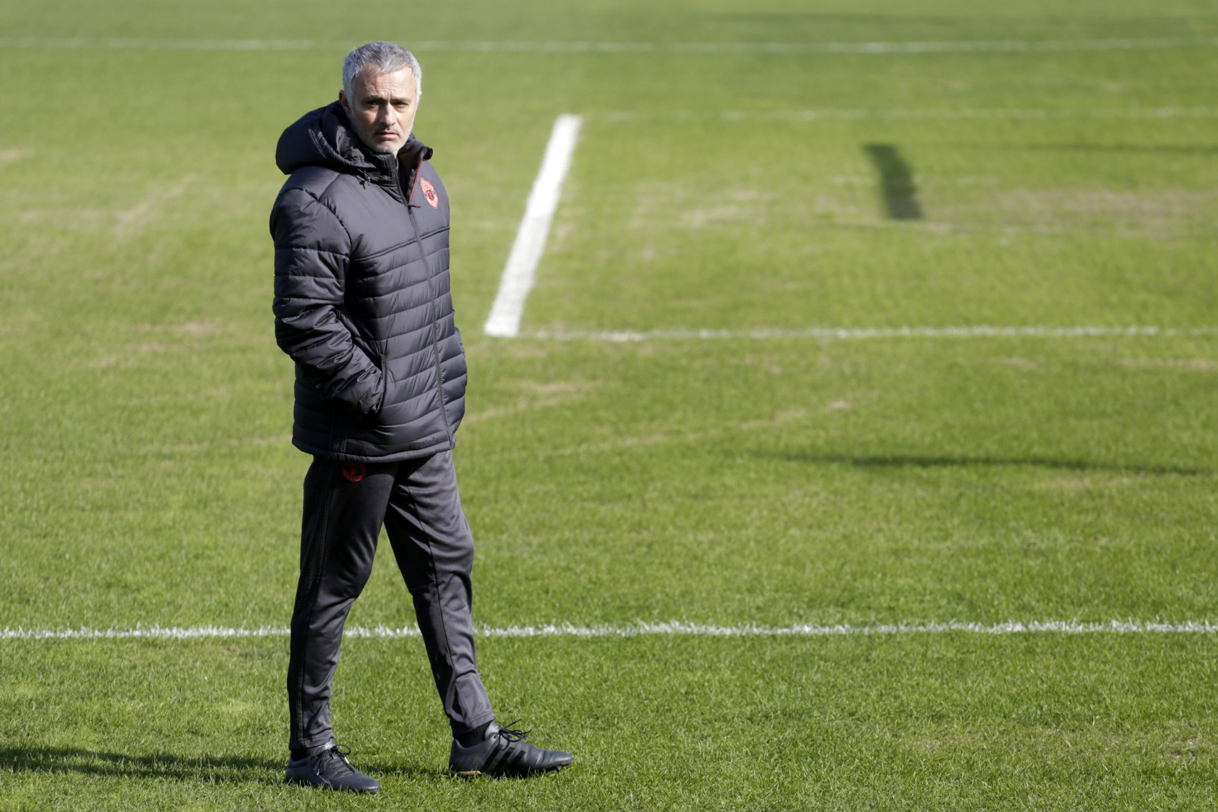 Manchester United manager Jose Mourinho in Rostov-on-Don, Russia