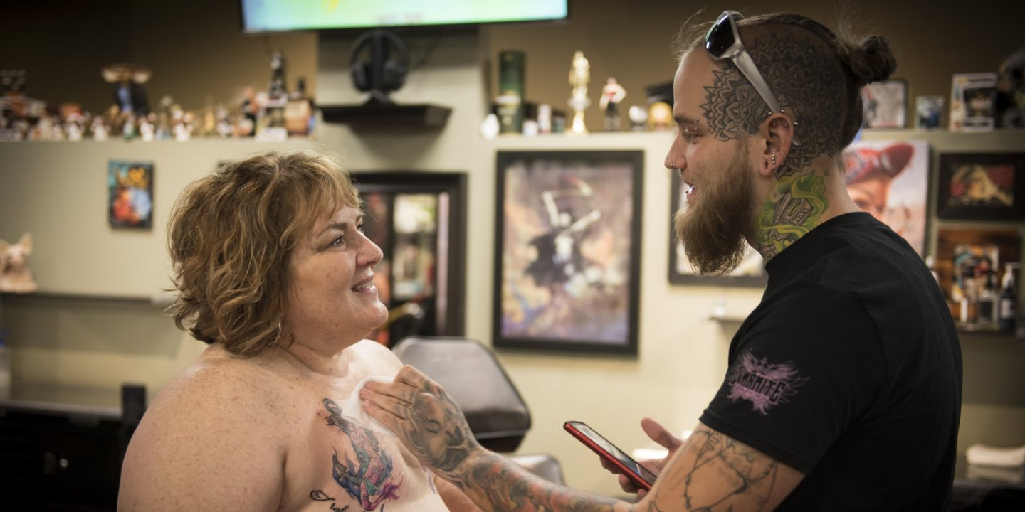 dc4a5a8da Tattooists Help Breast Cancer Survivors Transform Scars Into Art. By  Jessica Firger On 03/19/17 at 8:50 AM EDT. 03_31_mastectomy_tattoo_01