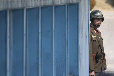 North Korea policeman