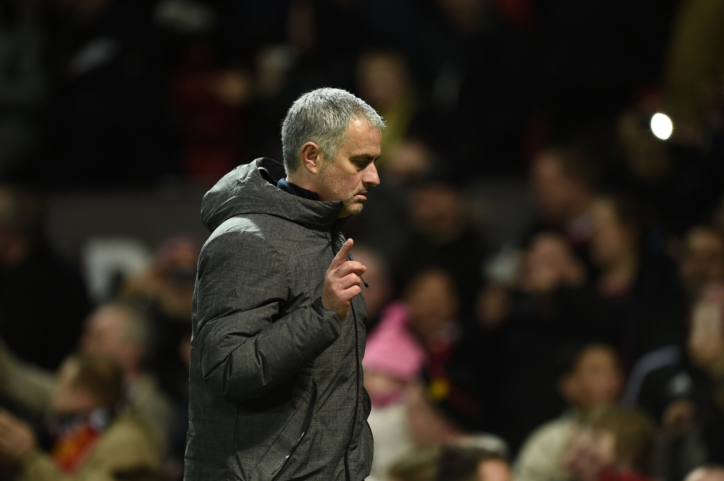 Manchester United manager Jose Mourinho at Old Trafford, England.