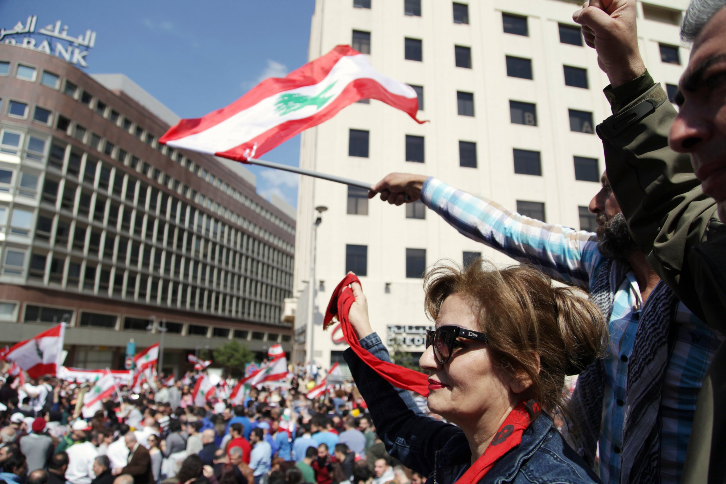 Protesters Hurl Water Bottles at Lebanese PM Over Proposed Tax Hikes