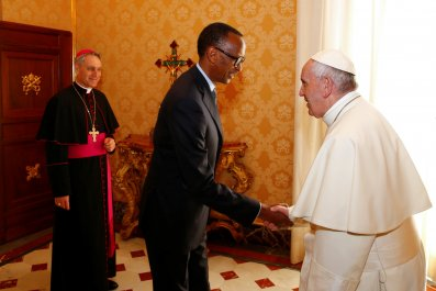Paul Kagame Pope Francis