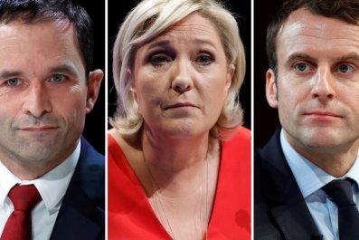Le pen, Macron, Fillon, Hamon, Melenchon