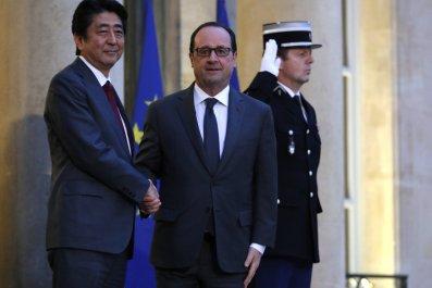 Francois Hollande Shinzo Abe