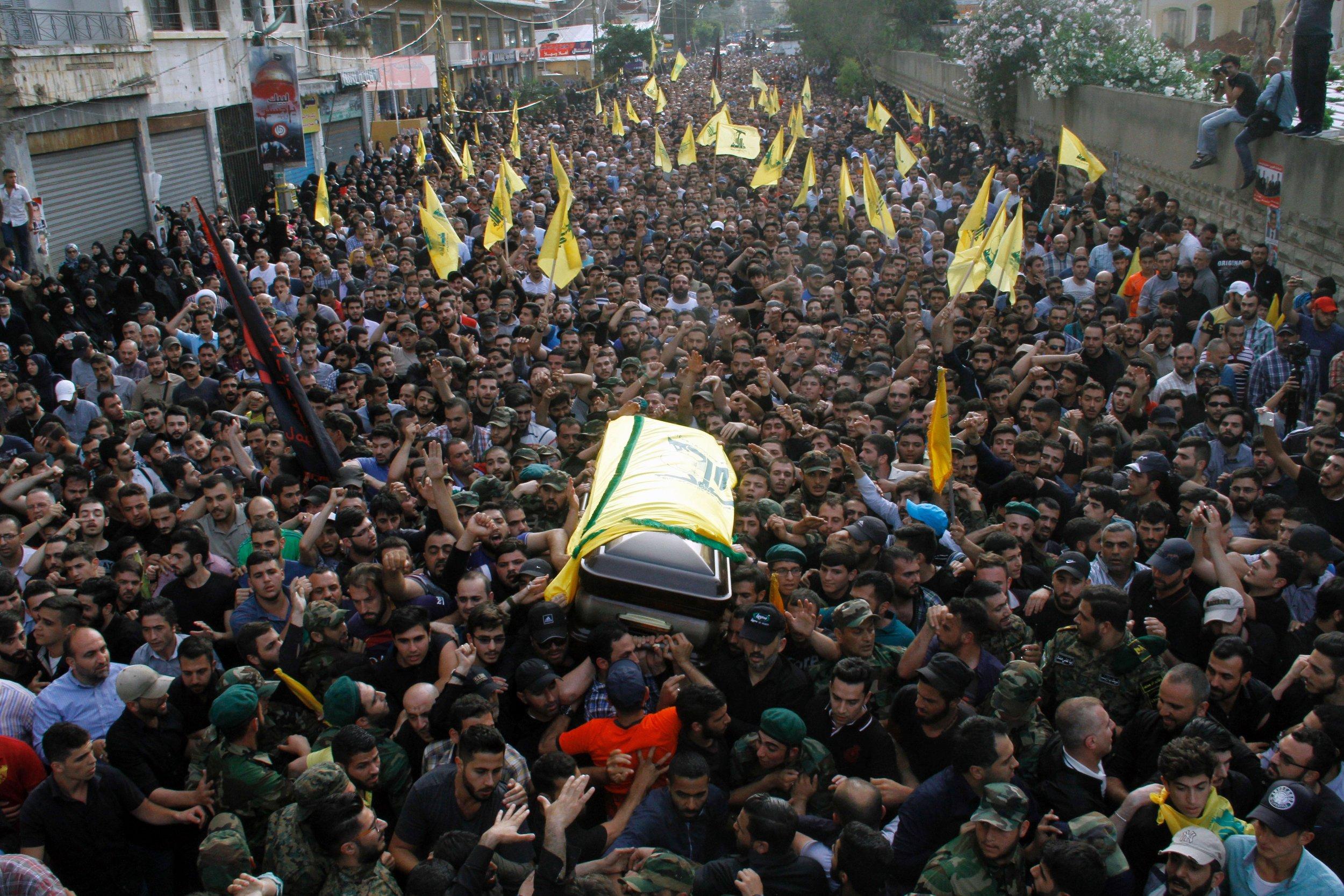 Hezbollah funeral