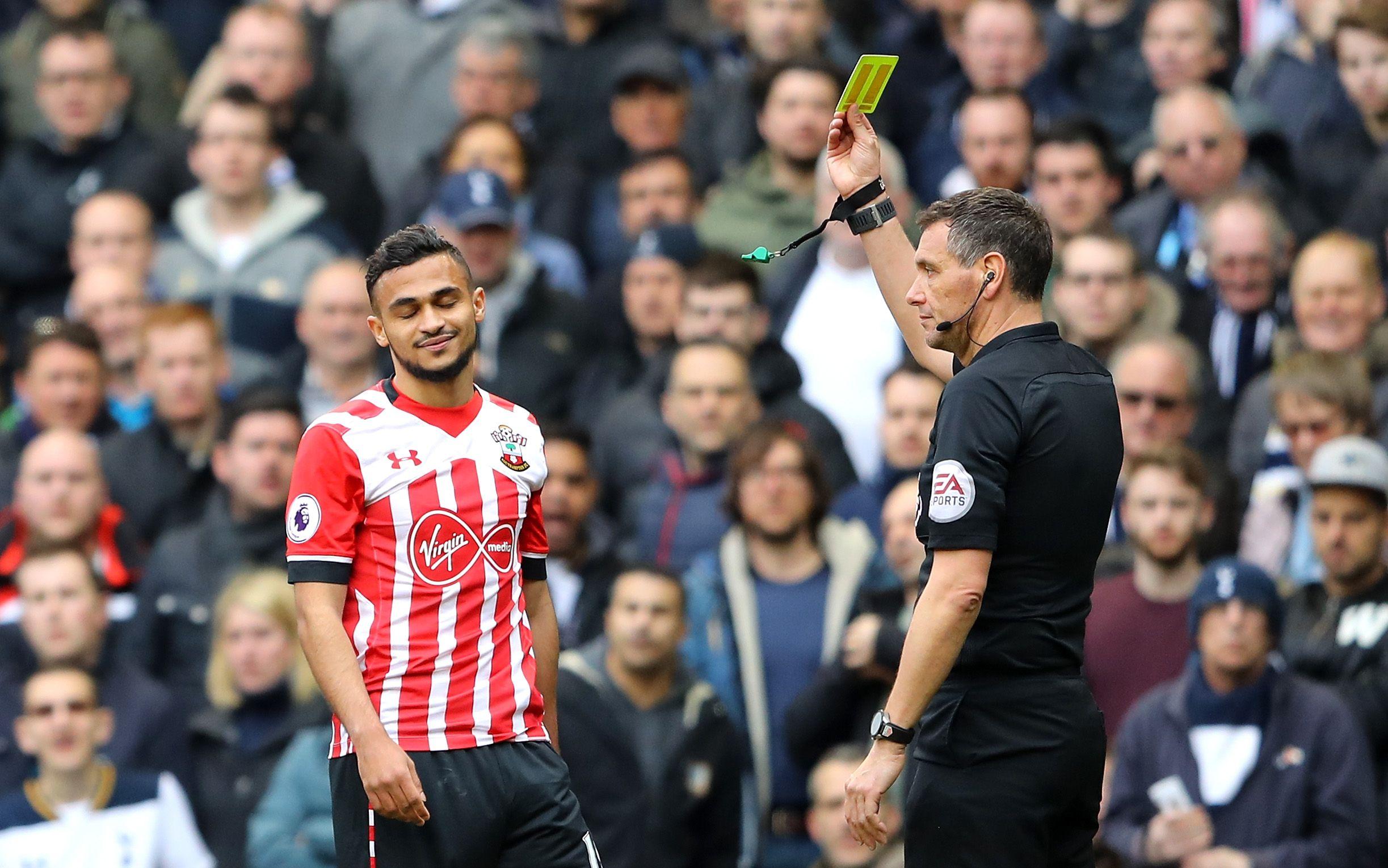Southampton FC's Sofiane Boufal, left.