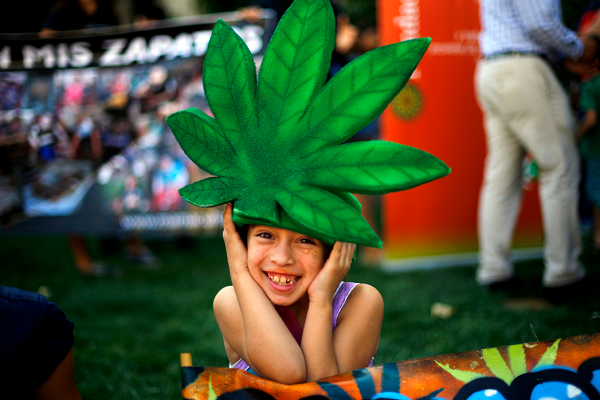 kid in weed hat