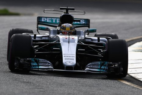 Lewis Hamilton in his Mercedes-AMG F1 WO8 at Albert Park, Melbourne, March 24.