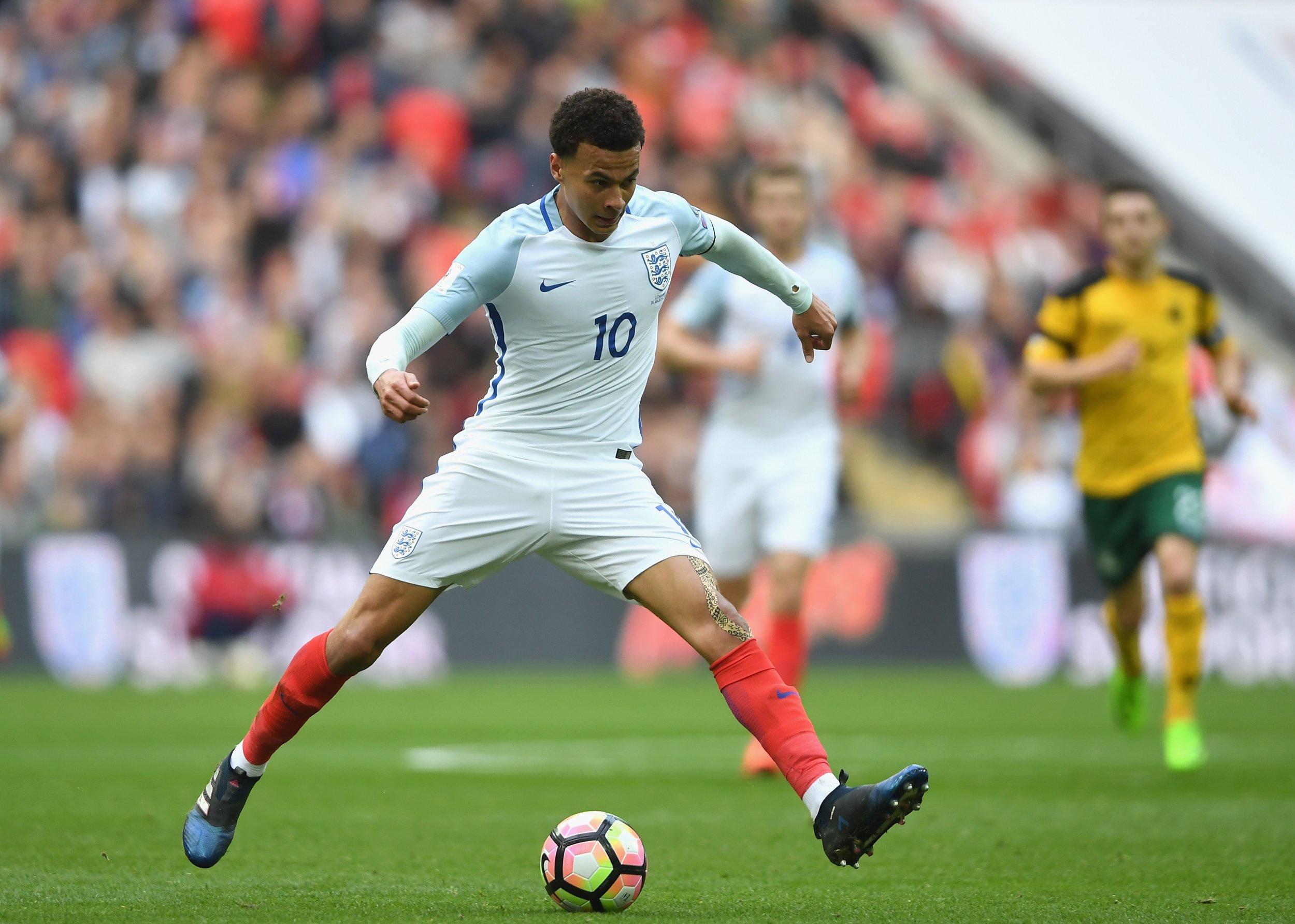 England midfielder Dele Alli.