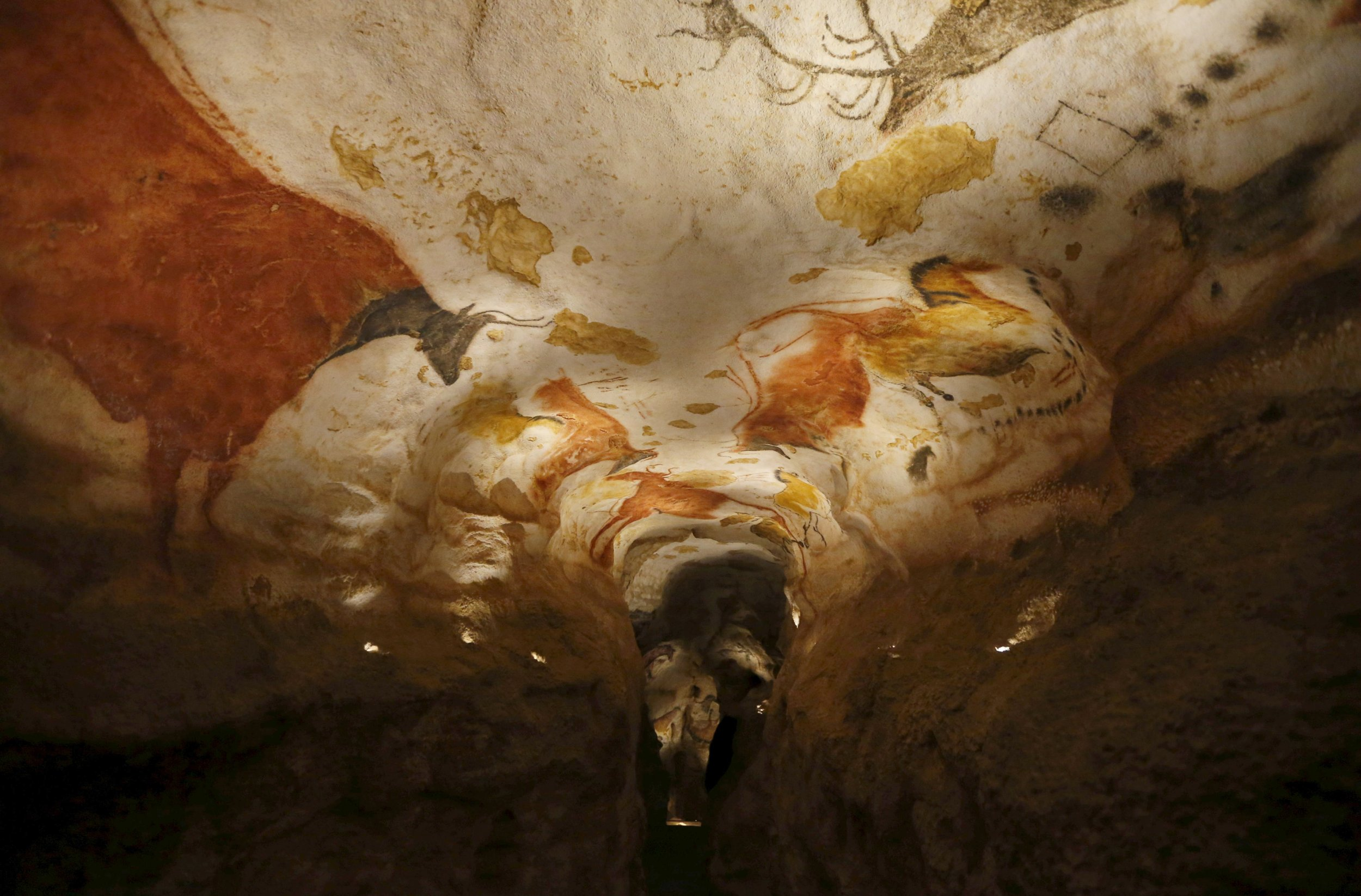 A replica of the original prehistoric painted caves
