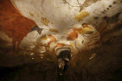 A replica of the original prehistoric painted caves