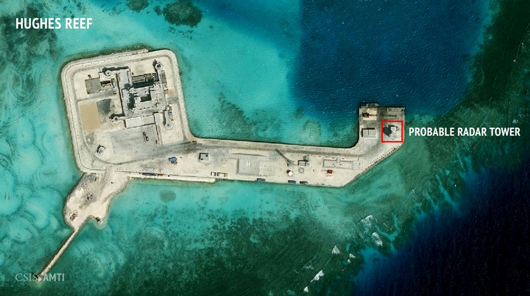 A Satellite Image Released By The Asian Maritime Transparency Initiative At  Washingtonu0027s Center For Strategic And International Studies Shows  Construction ...