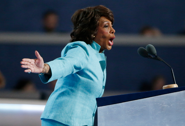 Maxine Waters calls President Donald Trump a 'lying, indecent' man on Twitter.