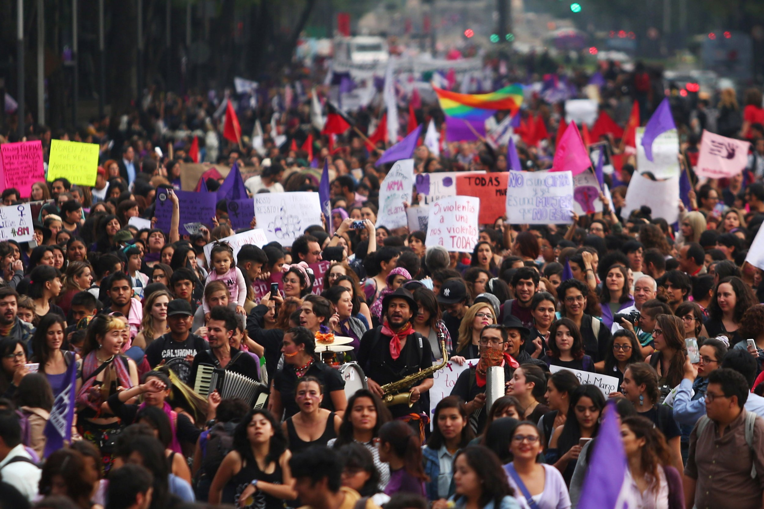 Mexico Women's Day protest