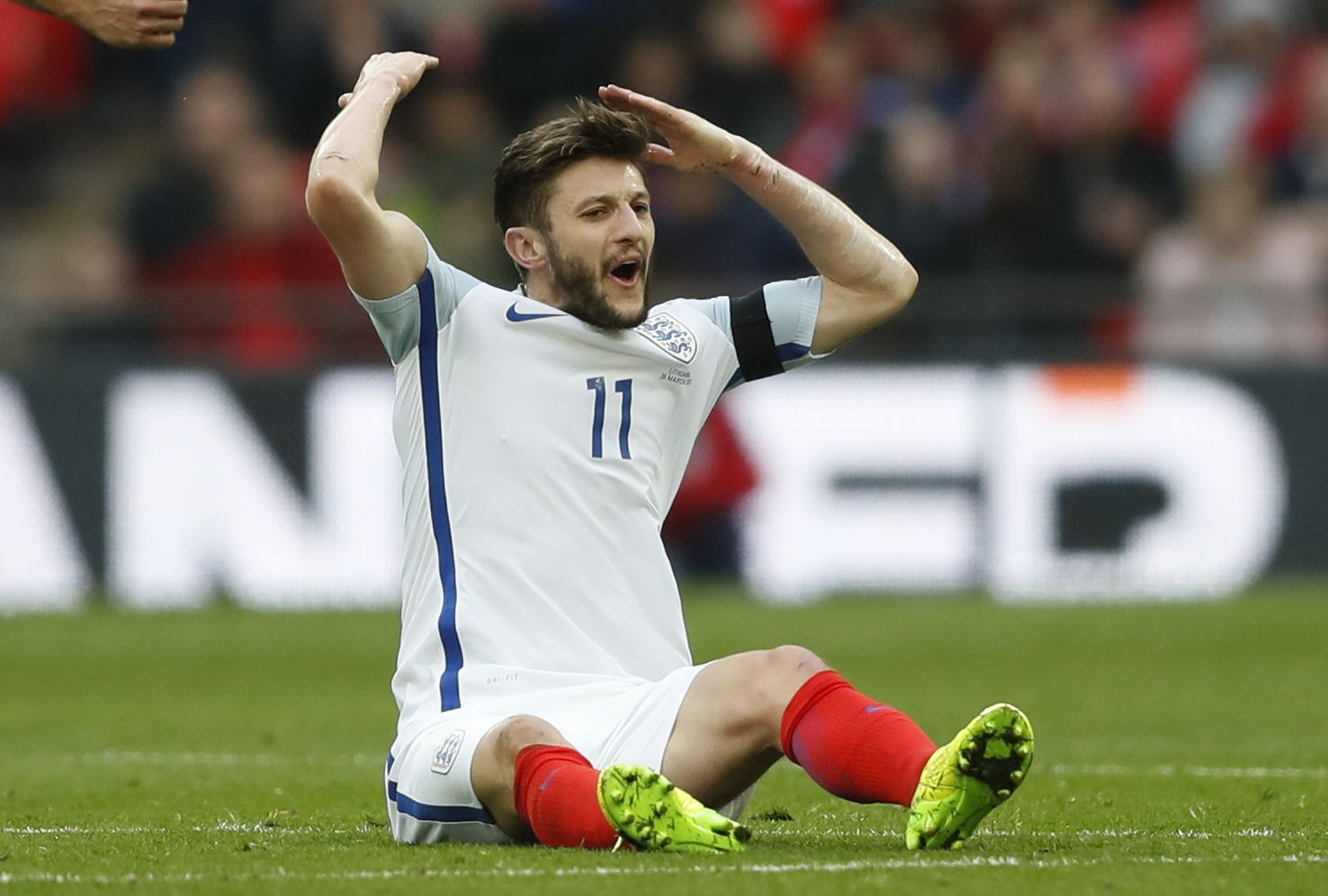 England and Liverpool midfielder Adam Lallana.