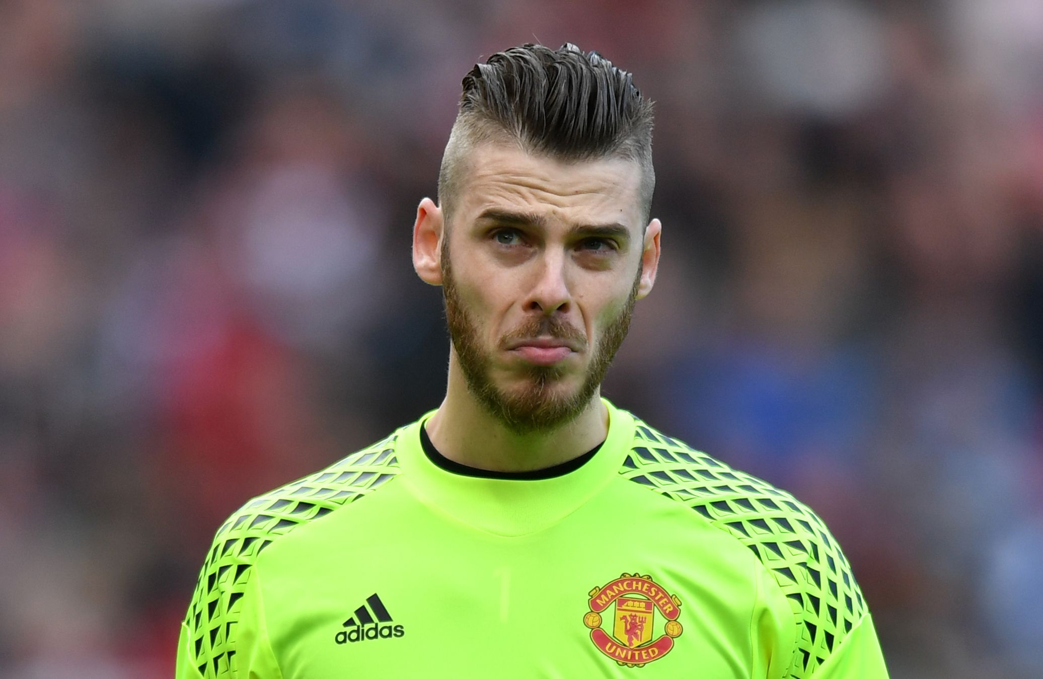 Manchester United goalkeeper David De Gea at The Riverside Stadium, Middlesbrough, England, March 19.
