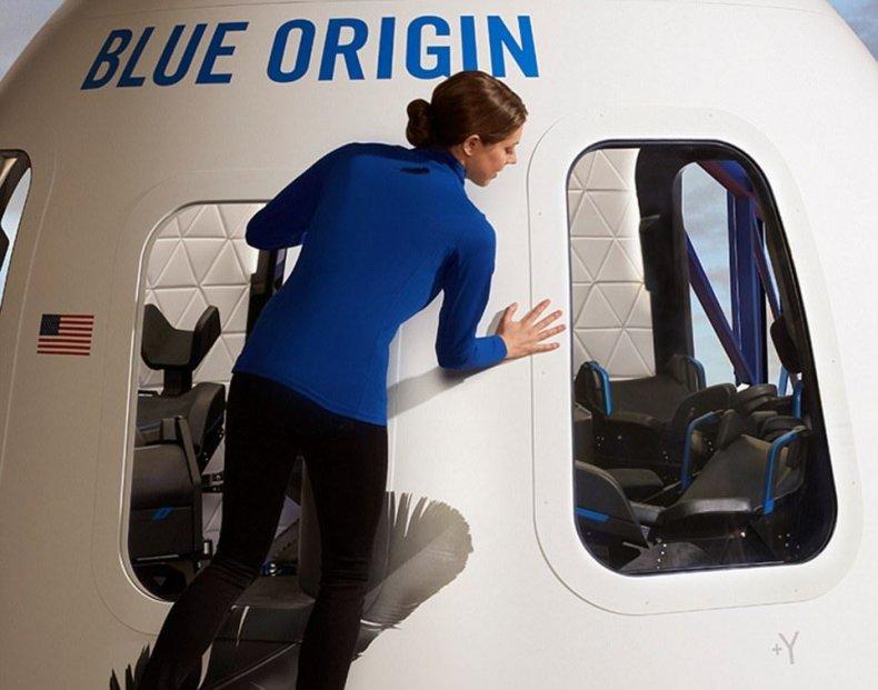 blue origin space capsule tourism