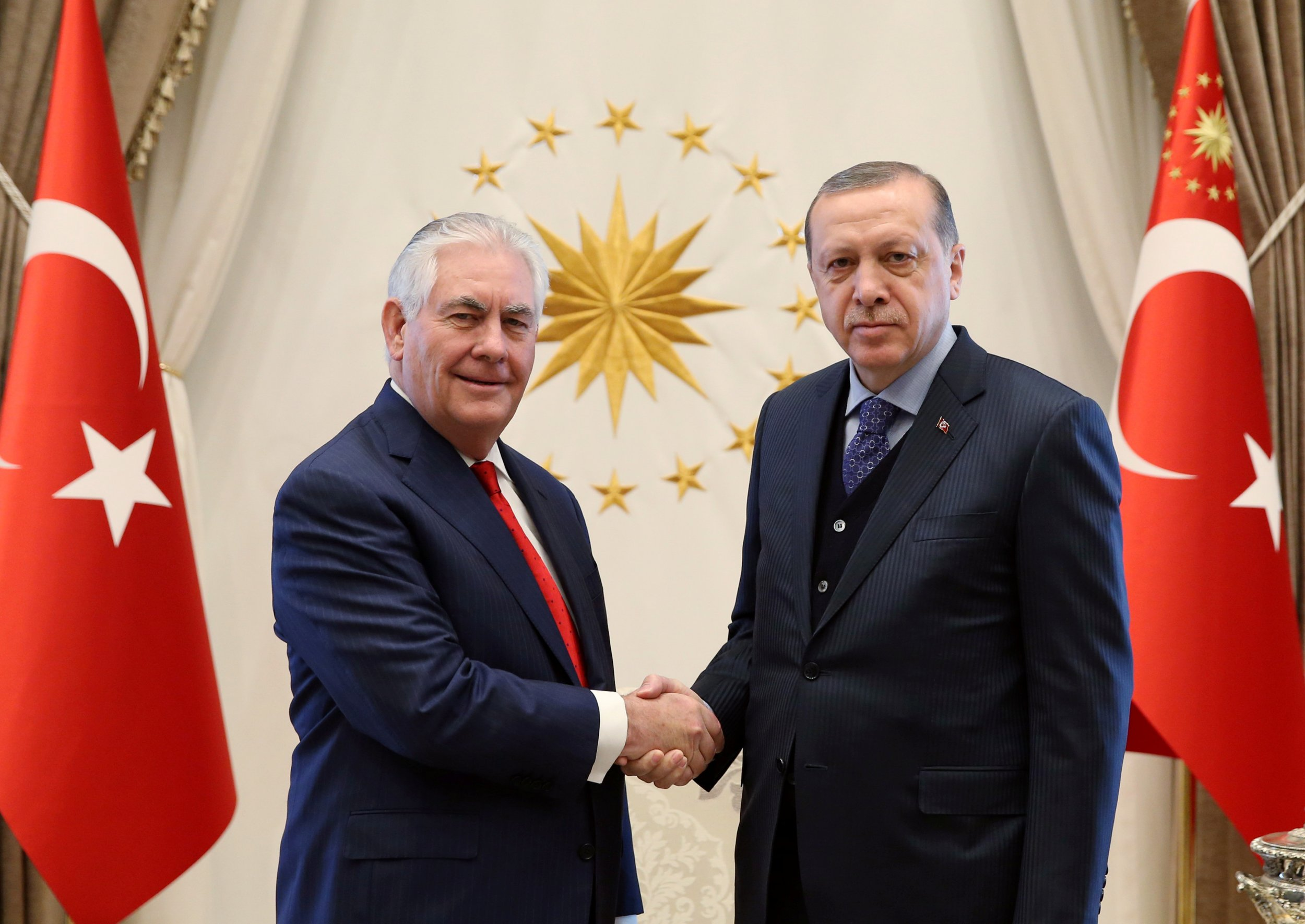 Erdogan meets with U.S. Secretary of State Rex Tillerson
