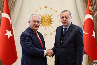 Erdogan meets with U.S. Secretary of State Rex Tillerson
