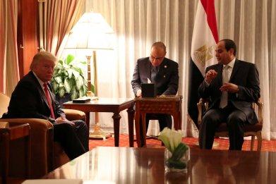Trump and el-Sissi