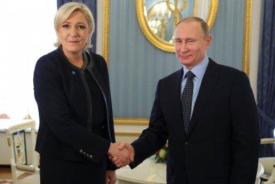 Marine Le Pen and Vladimir Putin