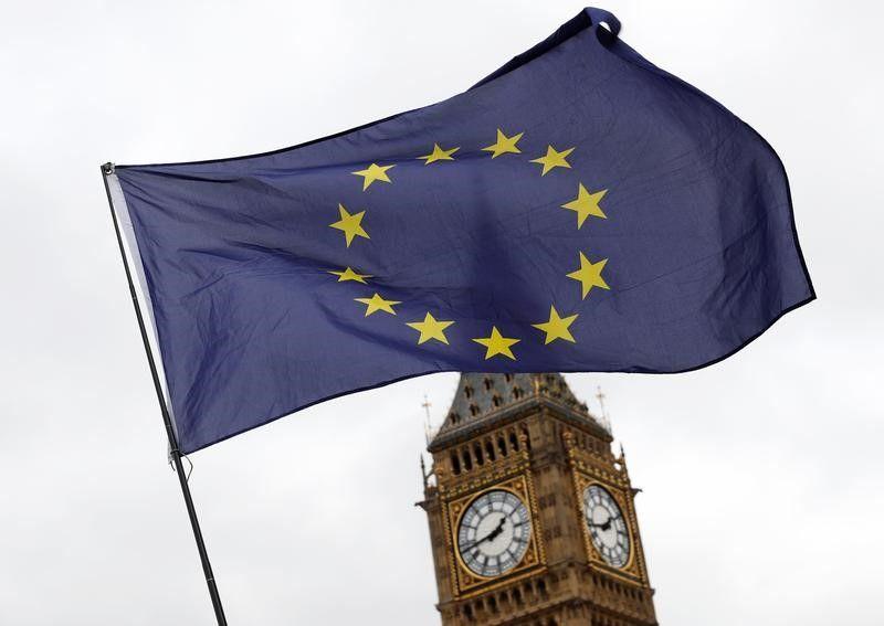 Brexit European Union flag London