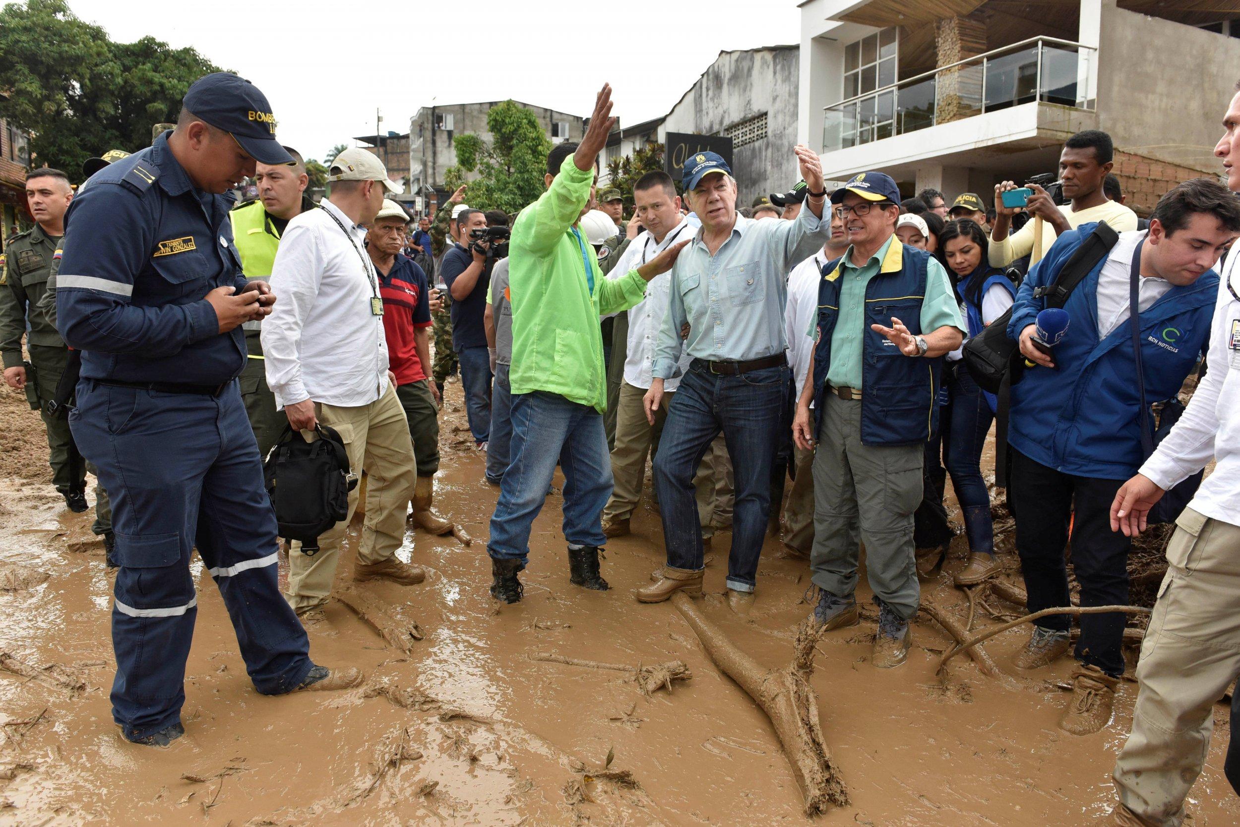 Colombia mudslide, Juan Manuel Santos