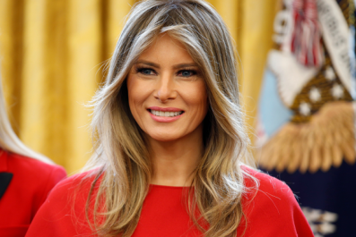 Melania Trump's official portrait as first lady is released in the White House.