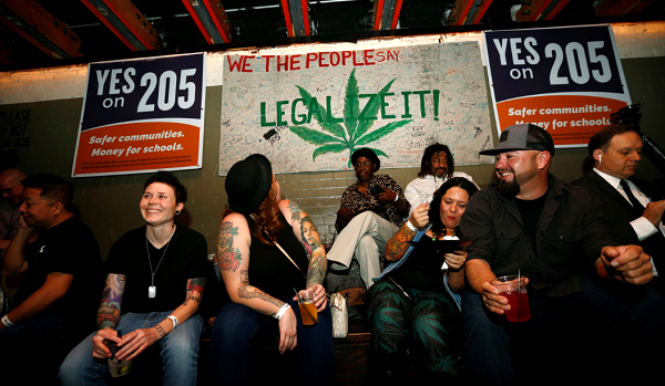 A new poll found support for marijuana legalization across all political parties was higher than its ever been in 2016.