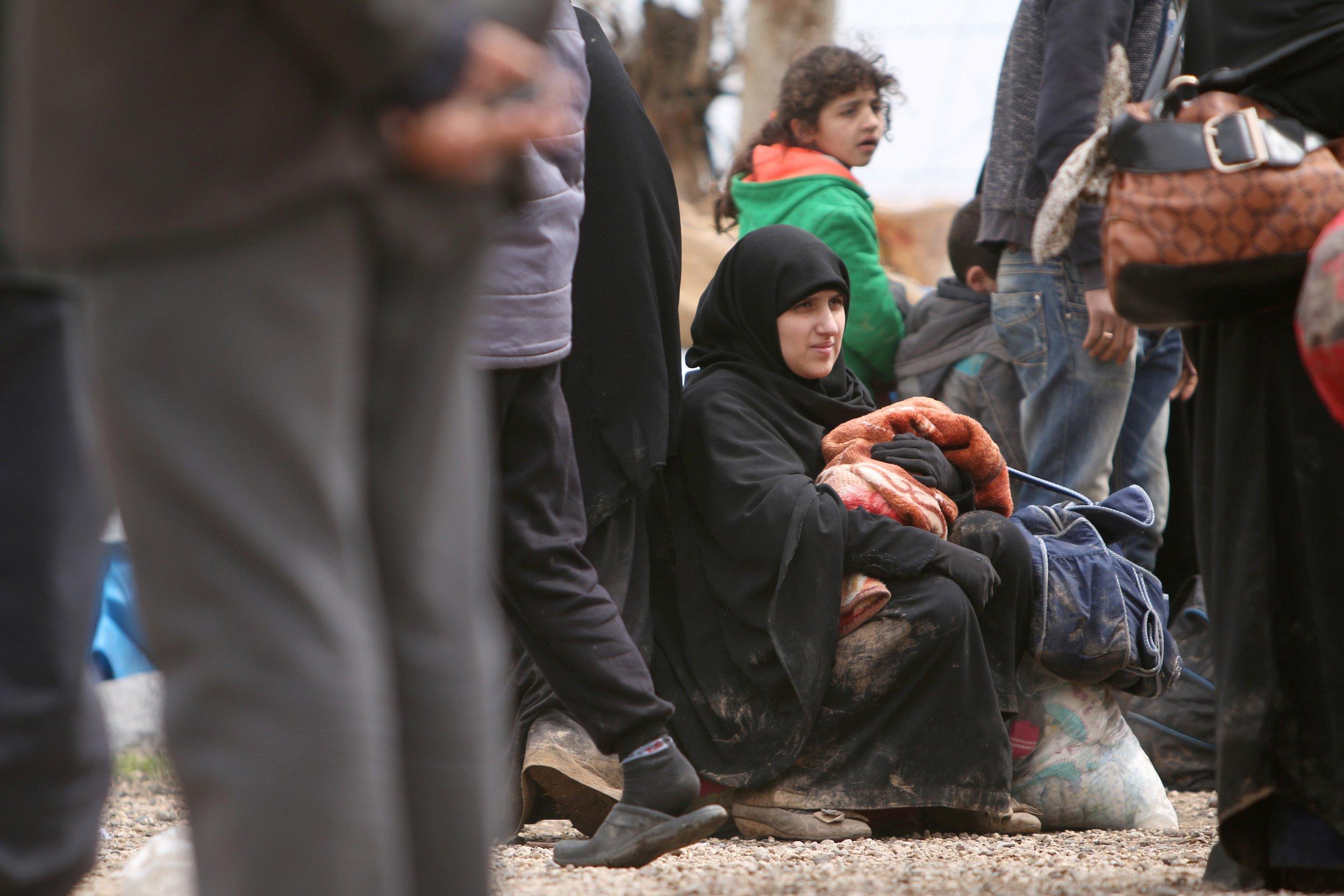 Syrians who fled Raqqa