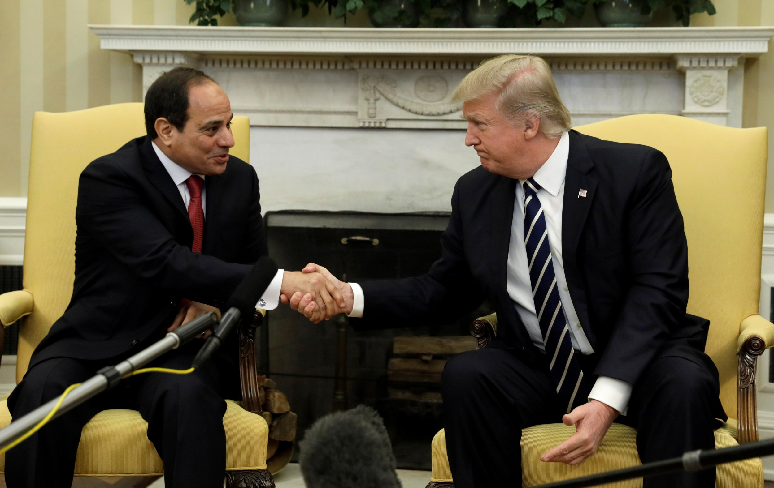 Trump Sissi meeting