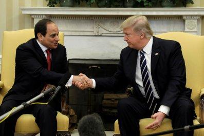 Trump Sissi meeting